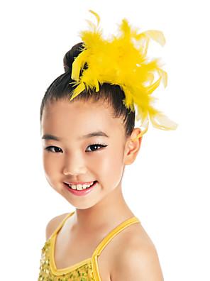 Acessórios de Dança Decoração de Cabelo Crianças Treino Penas Penas/Pêlo