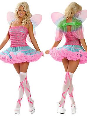 Fantasias de Cosplay / Festa a Fantasia Conto de Fadas Festival/Celebração Trajes da Noite das Bruxas Rosa Patchwork Vestido / AsasDia