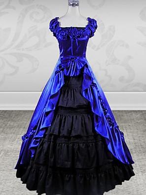 Jednodílné/Šaty Klasická a tradiční lolita Lolita Cosplay Lolita šaty Fialová / Černá Patchwork / Tisk Bez rukávů Long Length Šaty Pro