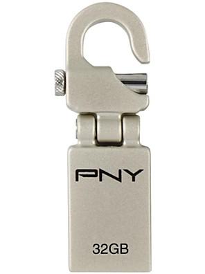 PNY mini haak attaché 32gb usb flash drive metalen stijl
