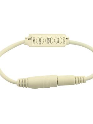 mini dimmer controller 3 sleutels voor 5050 3528 enkele kleur led strip licht met 2,1 mm stekker (12v 6a)