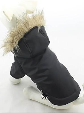 חתולים / כלבים מעילים / קפוצ'ונים Red / ירוק / כחול / סגול / Black בגדים לכלבים חורף אחיד Keep Warm / חסין רוח