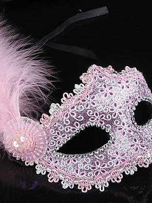 Máscara Princesa Festival/Celebração Trajes da Noite das Bruxas Dourado / Preto / Rosa / Azul Cor Única Máscara Dia Das Bruxas Feminino