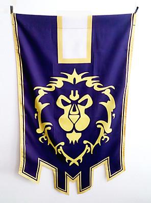 אביזרים נוספים קיבל השראה מ WOW קוספליי אנימה / משחקי וידאו אביזרי קוספליי דגל סגול Terylene זכר