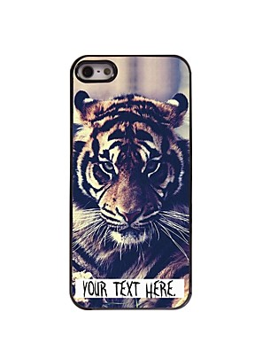 Personalized Case Tiger Design Metal Case for iPhone 5/5S