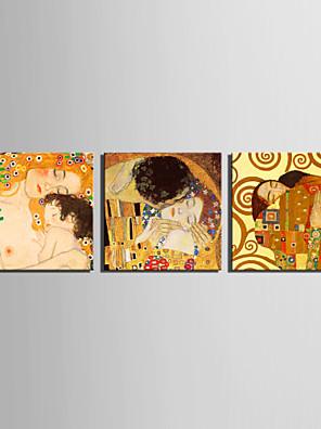Feszített Canvas Art Anya és fia, és csók Klimt A 3