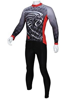 PALADIN® Calça com Camisa para Ciclismo Homens Manga Comprida Moto Respirável / Secagem RápidaCamisa + Calças / Conjuntos de