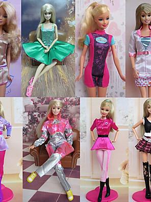 Prinsesse Kostume Til Barbie Doll Lyserød Kjoler For Pigens Doll Toy
