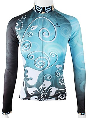 PALADIN® Camisa para Ciclismo Mulheres Manga Comprida Moto Respirável / Secagem Rápida Camisa/Fietsshirt / Blusas 100% PoliésterFloral /