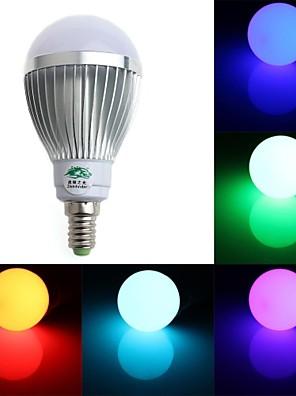 5W E14 Lâmpada Redonda LED A60(A19) 1 LED Dip 350-400 lm RGB Regulável / Controle Remoto / Decorativa AC 85-265 V