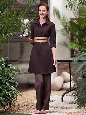 lázeňské uniformy dámská polovina objímky se obrátil dolů límec lázně šaty