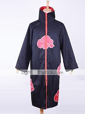 Inspirovaný Naruto Akatsuki Anime Cosplay kostýmy Cosplay šaty Tisk Czarny Dlouhé rukávy Přehoz