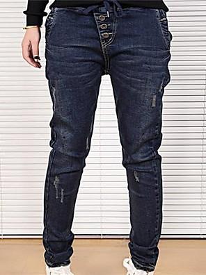yibeier® kvinners skinny denim beskjæres bukser