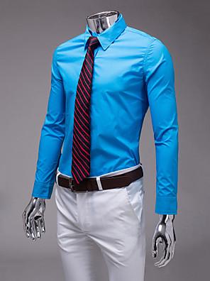 nebesky modrá slim fit košile s dlouhým rukávem