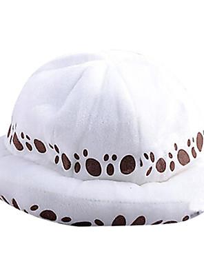 Chapéu Inspirado por One Piece Trafalgar Law Anime Acessórios de Cosplay Larga / Chapéu Branco Terylene Masculino