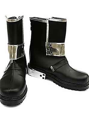 מגפיים מדמוי עור לתחפושת משחק קיטורו בצבע שחור