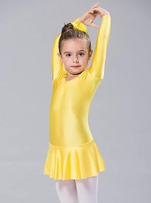 Balé Vestidos Mulheres / Crianças Elastano 1 Peça Manga Comprida Vestidos