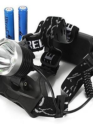 Iluminação Lanternas de Cabeça / Luzes de Bicicleta LED 2000/1600/1800/350 Lumens 3 Modo Cree XM-L T6 18650.0Prova-de-Água / Recarregável