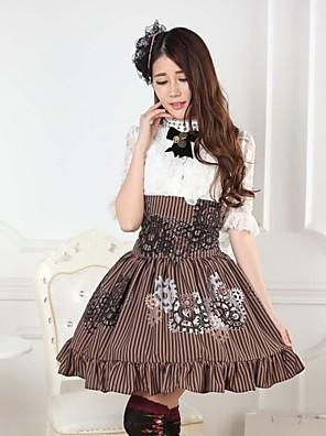 steampunk alkymi utstyr lolita prinsessen kawaii skjørt nydelig cosplay