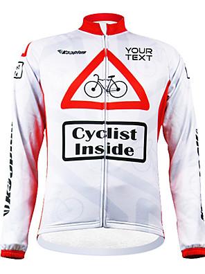 KOOPLUS® חולצת ג'רסי לרכיבה לנשים / לגברים / יוניסקס שרוול ארוך אופניים עמיד / רוכסן עמיד למים / לביש ג'רזי / מותאם אישית פוליאסטראביב /