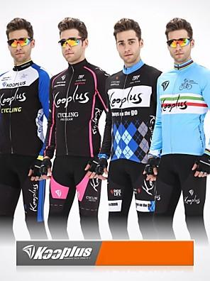 KOOPLUS® ג'קט ומגנסיים לרכיבה לגברים שרוול ארוך אופנייםנושם / שמור על חום הגוף / עיצוב אנטומי / רוכסן קדמי / 3D לוח / רצועות מחזירי אור /