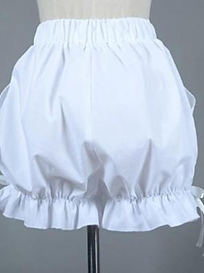 Kalhoty Sweet Lolita Lolita Cosplay Lolita šaty Bílá Jednobarevné Lolita Lolita Kalhoty Pro Dámské Bavlna