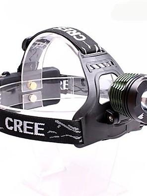 תאורה פנסי ראש LED 2000 Lumens 3 מצב Cree XM-L T6 18650 מיקוד מתכוונן / עמיד למים / ראש הזווית רב שימושי סגסוגת אלומניום