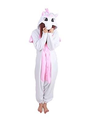 Kigurumi פיג'מות Unicorn /סרבל תינוקותבגד גוף פסטיבל/חג הלבשת בעלי חיים Halloween ורוד טלאים פליז ארקטי Kigurumi ל יוניסקסהאלווין (ליל כל