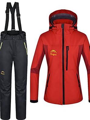 לנשים ז'קטים לנשים / ז'קטים לחורף / מדים בסטים עמיד למים / שמור על חום הגוף חורף אדוםS / M / L / XL / XXL