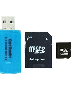8gb class 4 microSDHC cartão de memória flash tf com adaptador SD e SDHC e leitor de cartão usb