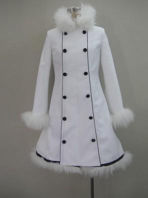 קיבל השראה מ Vocaloid Hatsune Miku וִידֵאוֹ מִשְׂחָק תחפושות קוספליי חולצות קוספליי / תחתון אחיד לבן שרוולים ארוכים מעיל
