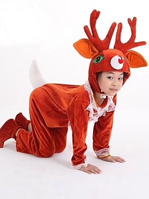 Cosplay Kostýmy / Kostým na Večírek Zvířecí / Vánoční santa obleky Festival/Svátek Halloweenské kostýmy Červená Jednobarevné