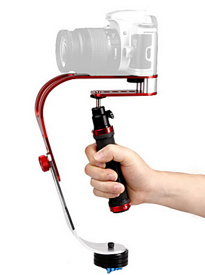 DEBO Video håndholdt stabilisator UF-007 til SLR kamera - Rød + Sort + Sliver