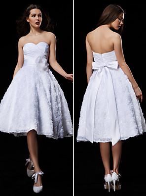 신부의 볼 가운은 몸집이 작은 lanting / 플러스 웨딩 드레스 무릎 길이의 연인 레이스 / 태 피터 크기