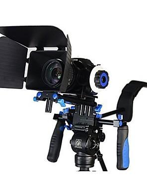 dslr rig kit filme ombro montar equipamento com acompanhamento foco e matte box para todas as câmeras DSLR e filmadoras de vídeo