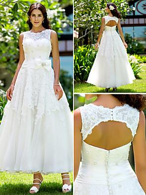 Lanting Bride® Linha A / Princesa Pequeno / Tamanhos Grandes Vestido de Noiva - Chique e Moderno / Elegante e Luxuoso / RecepçãoVestidos