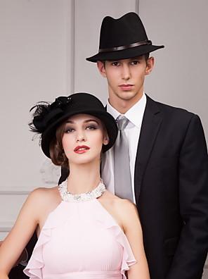 nádherné vlny dámské svatební / party / outdoor klobouk s peřím a křišťálu
