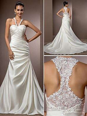 Lanting Bride® Sereia Pequeno / Tamanhos Grandes Vestido de Noiva - Chique e Moderno / Elegante e Luxuoso Inspiração Vintage Cauda Capela