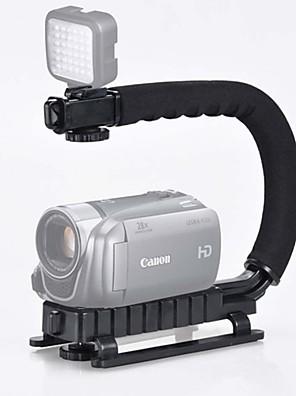 nye sorte u form flash beslag håndholdt stabilisator grip + 48h LED lampe samling