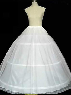 תחתונית  A- קו תחתוניות / סליפ שמלת נשף / שובל קפלה אורך עד לרצפה 2 רשתות בד טול לבן