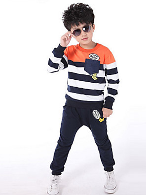 Boy's Spring/Fall Micro-elastic Medium Long Sleeve Clothing Sets (Cotton Blends)
