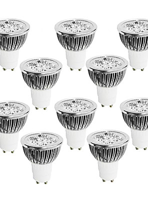 4W GU10 LED-spotlampen 4 Krachtige LED 320 lm Warm wit / Koel wit / Natuurlijk wit Dimbaar AC 220-240 V 10 stuks