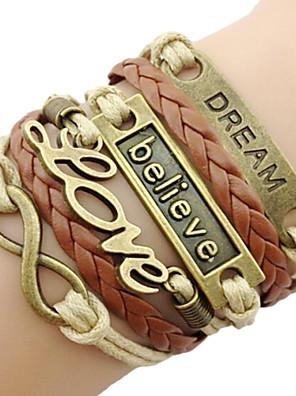 leather Charm Bracelets Classic Bronze LOVE Leather Wrap Bracelet(1 Pc) inspirational bracelets Jewelry Christmas Gifts