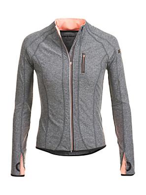 JAGGAD ® Ioga tops / Camiseta Respirável / Permeável á Humidade / Secagem Rápida / wicking Stretchy Wear SportsIoga / Pilates / Fitness /
