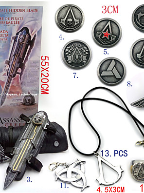 Jóias / Crachá Inspirado por Assassin's Creed Ezio Anime/Games Acessórios de Cosplay Colares / Manopla / Crachá / Broche Preto Liga / PVC