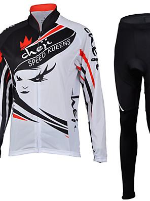 CHEJI® Calça com Camisa para Ciclismo Mulheres Manga Comprida MotoRespirável / Secagem Rápida / Resistente Raios Ultravioleta / Isolado /