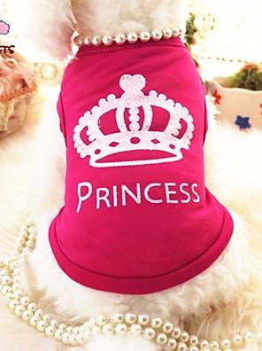 Gatos / Cães Camiseta Rosa Roupas para Cães Verão Tiaras e Coroas / Princesa Casamento / Fantasias