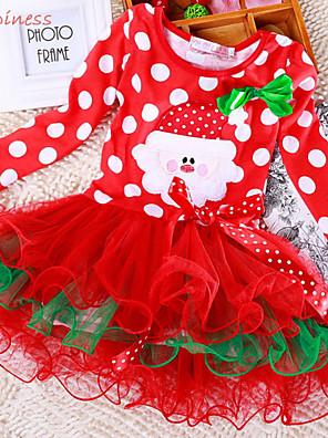 Dívka je Zima / Podzim Šaty Bavlna / Polyester / Síťovina Červená