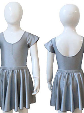 Balé Malha / Saias Mulheres / Crianças Treino / Actuação Nailon / Licra 2 Peças Saia / Malha Collant As the Size Chart
