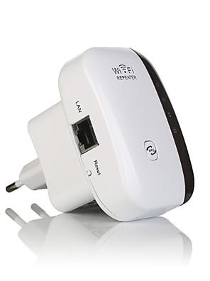 אלחוטית WiFi 802.11n מגבר אות מהדר / b / g מאיצי אות 300Mbps טווח Wi-Fi extander repetidor wifi WPS-eu